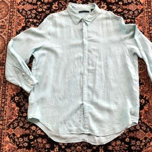 Perry Ellis Linen Button Up Shirt